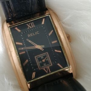 Men's Relic Watch on Leather Wristband